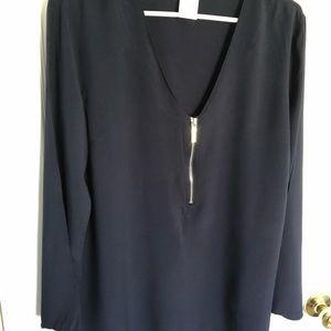 Navy MK blouse